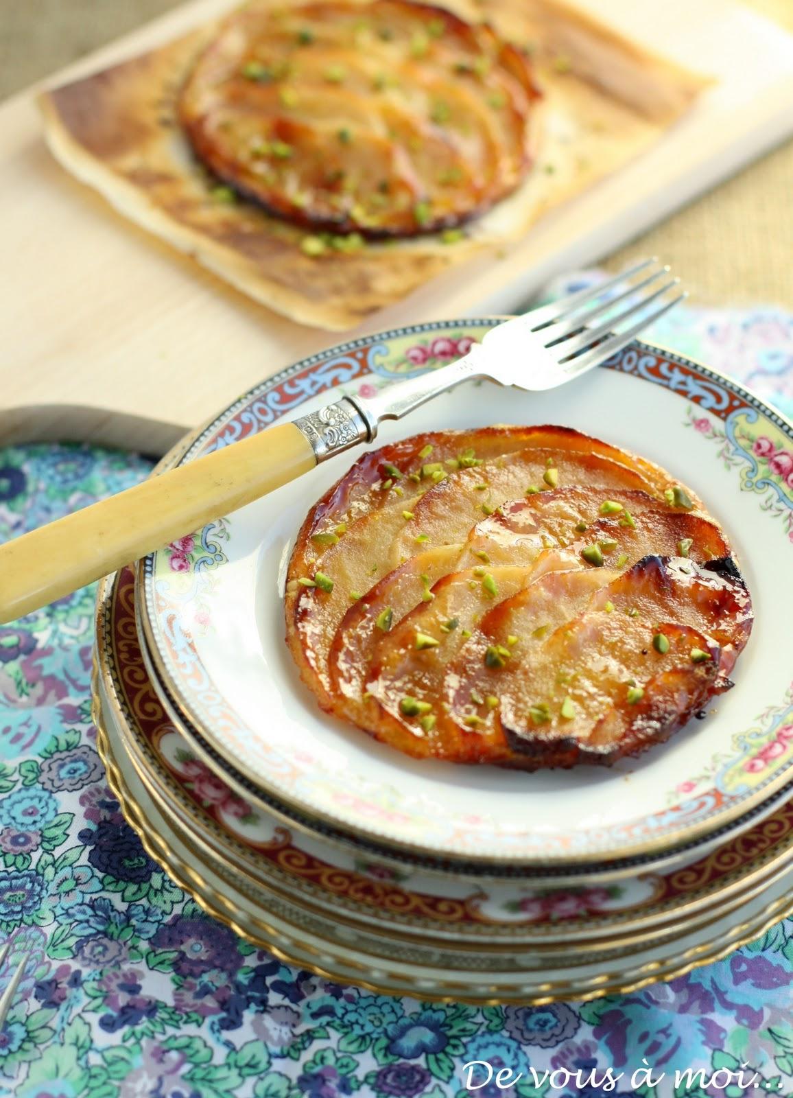 De vous moi tarte fine aux pommes et gel e de coings - Tarte soleil aux pommes ...