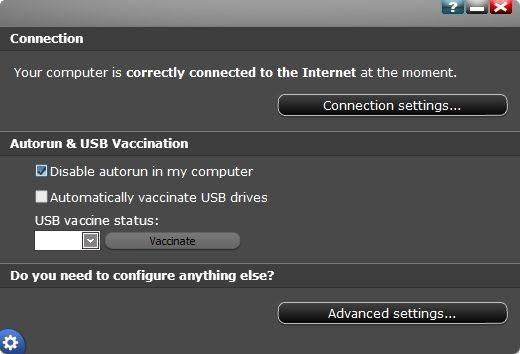 Panda Cloud Antivirus Free v2.1 - USB Vaccination