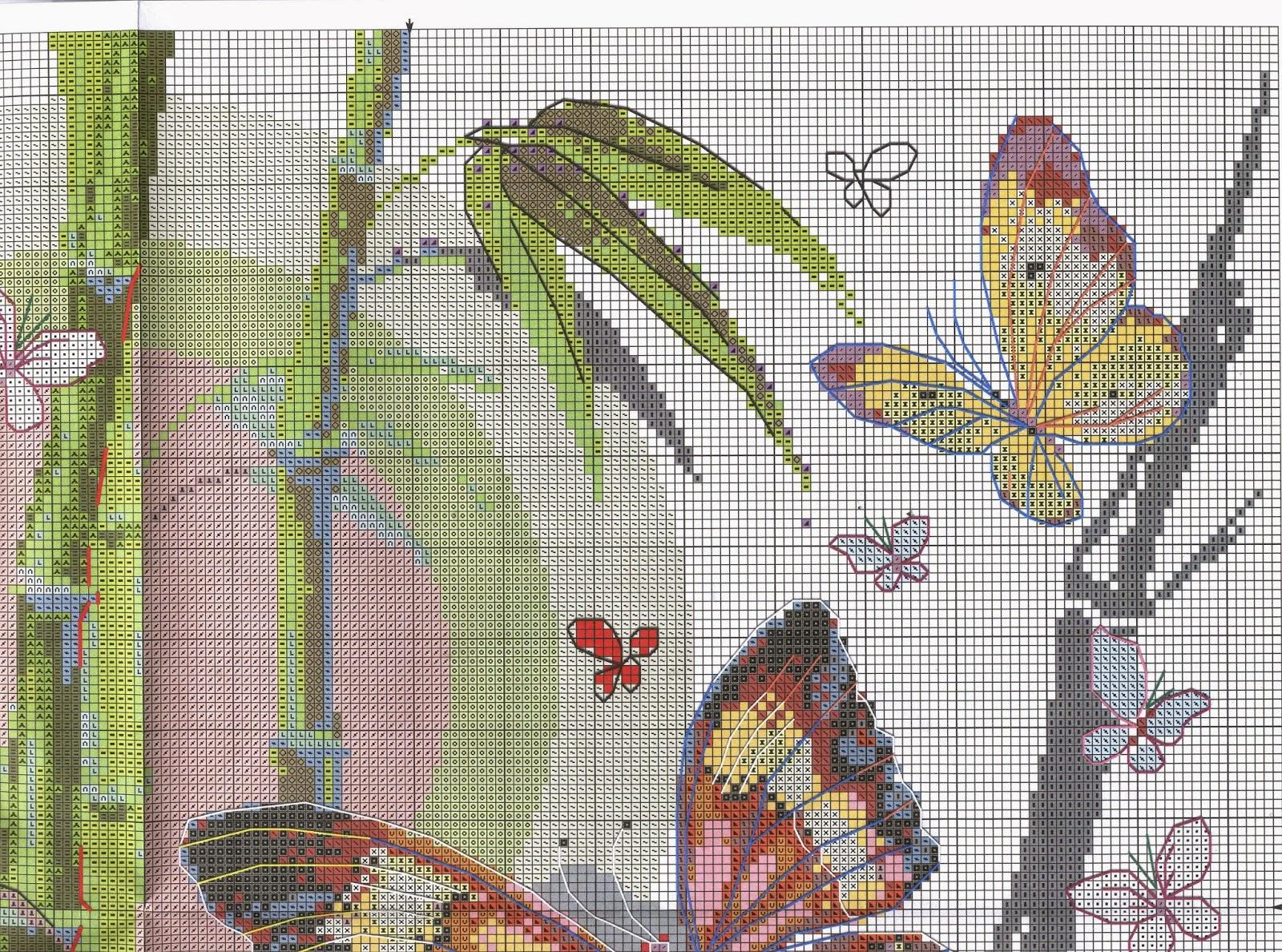 Вышивка бабочки от риолис 102