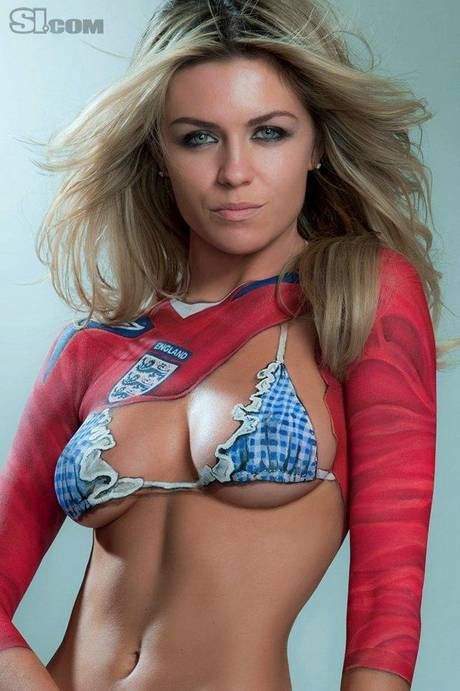 Abigail Clancy Body Paint