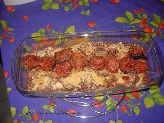 tortino di quinoa rossa e fagioli borlotti