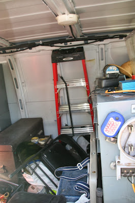 Work Van Ladder Storage