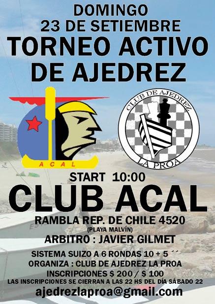 ¡Torneo activo en Acal!