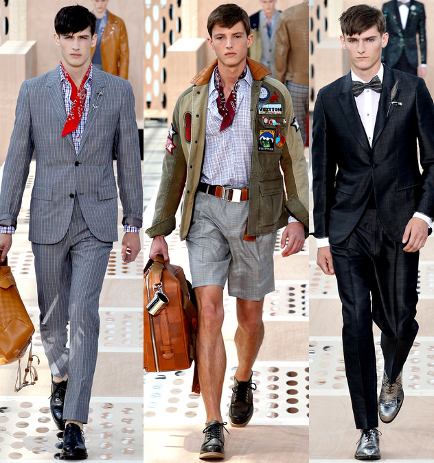 louis vuitton mens spring 2014 silk suits