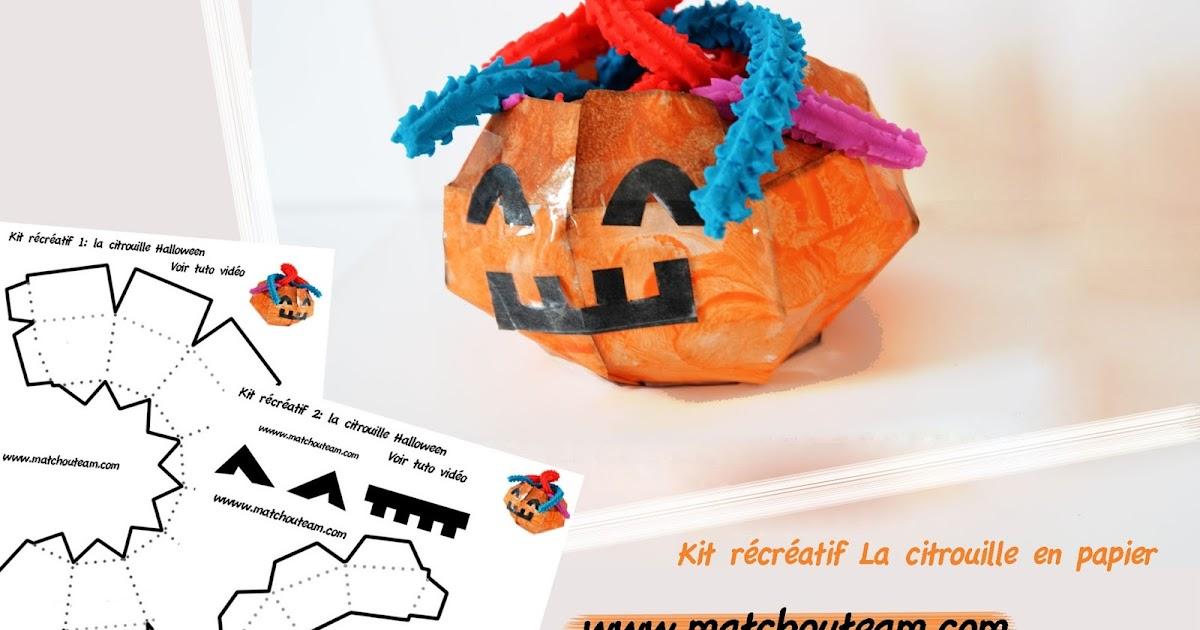 Ma tchou team citrouille en papier pour halloween - Citrouille halloween en papier ...