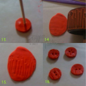 polymerclaybuttontutorial13 16 Polymer Clay Button Tutorial