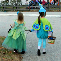 New England Fall Events_Kids Costumes Fairies Peacocks Halloween trick or treating