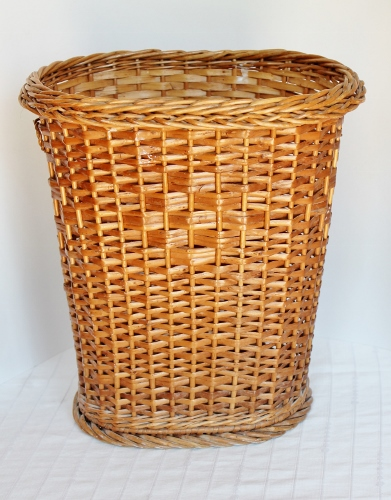 Antique vintage basket price guide adirondack girl heart - Wicker trash basket ...