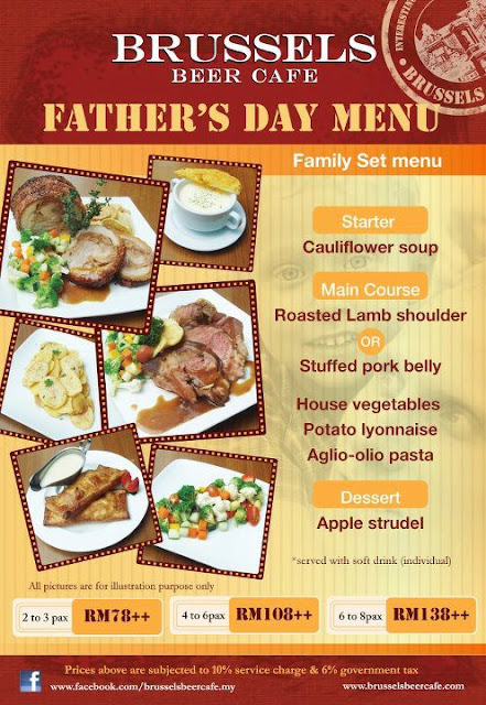 579887 408664075838656 1908518062 n Brussels Beer Cafe  Fathers Day Menu