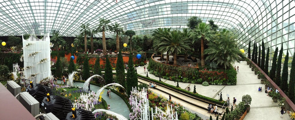 inside gardens by the bay park area singapore there are three main spots that you can visit flower dome cloud forest and ocbc skyway - Garden By The Bay Flower