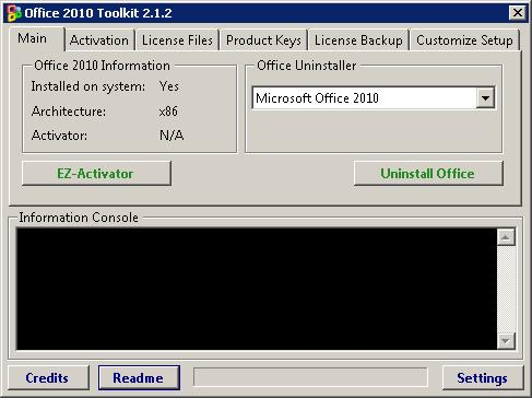 Microsoft Office 2010 Activation 2.1.2