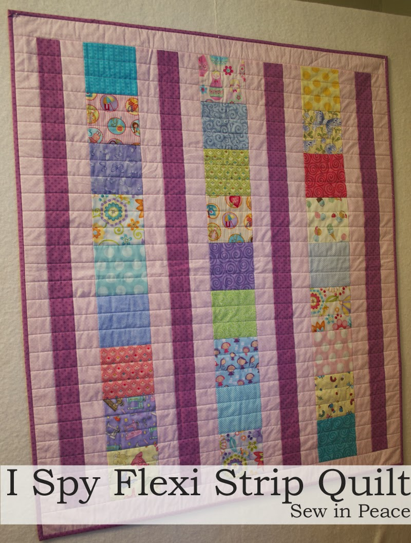 Sew in Peace: Flexi Strip Baby Quilt Tutorial