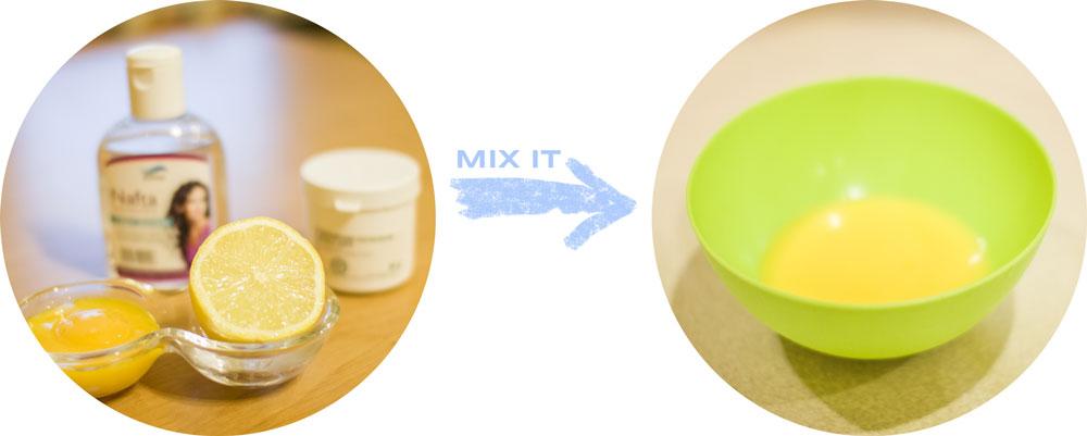 maseczka domowej roboty na wypadanie włosów jesienią blog modowy jajeczna, cytryna, nafta olejek rycynowy, żółtka