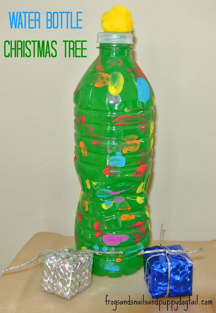 Water Bottle Christmas Trees- fun craft for the kids by FSPDT