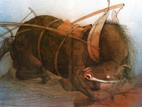 Ilustración de Ralph Steadman para Rebelión en la Granja - Cine de Escritor