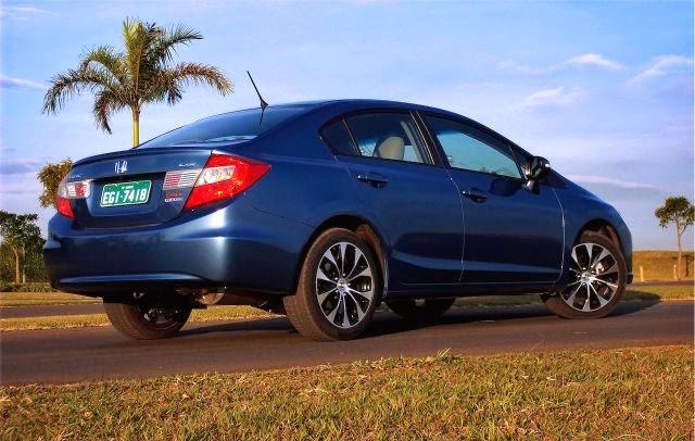 Honda Civic 2015 mudanças