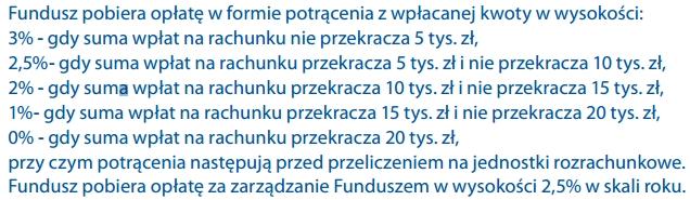 Opłaty od składki na IKZE Pocztylion Plus