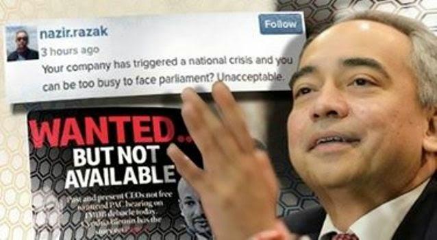 Tak hadir siasatan, Tindakan 1MDB tidak boleh diterima – Nazir Razak