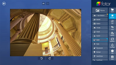 Fotor photo editing tool screenshot
