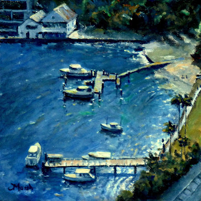 lavender bay sydney australia fred marsh oil canvas