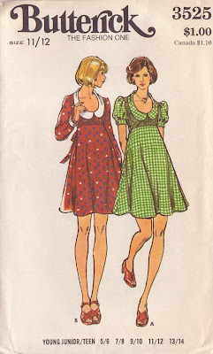Vintage Sewing Patterns, Mini-dress, Harajuku