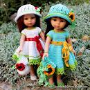 Одежда крючком для кукол Паола Рейна