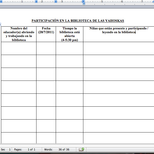 Community Service Log Sheet The educators to log their