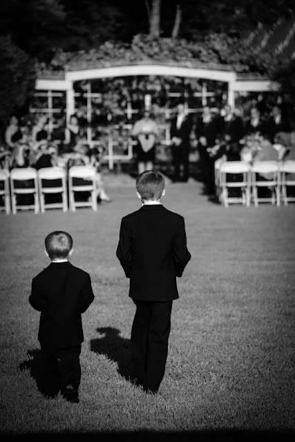 Ring Bearers Walking Vintage Style Veramar Vineyard