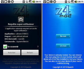 Z4root apk: Z4root 3.0 realised.