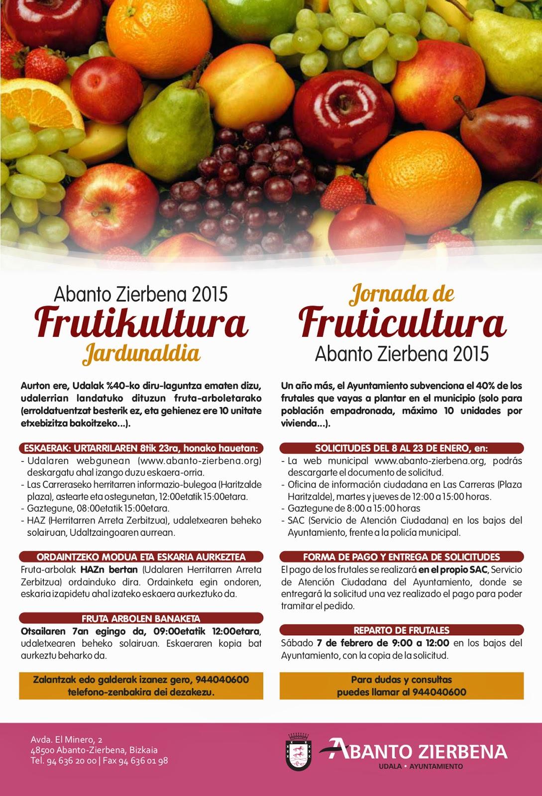 Abanto presenta su tradicional Jornada de Fruticultura