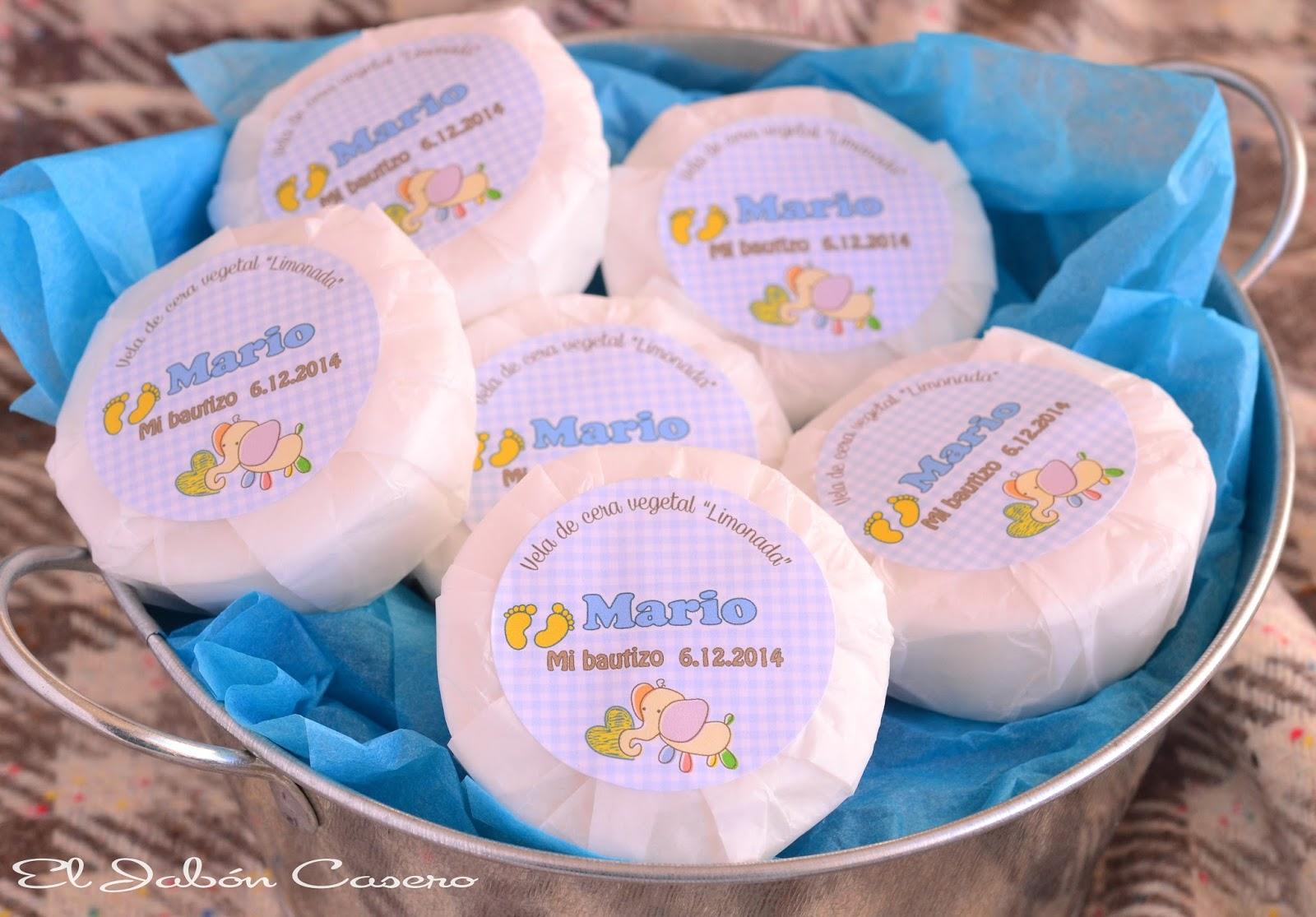 velas personalizadas para bautizos