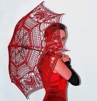 acessórios femininos guarda-chuva em croche com receita