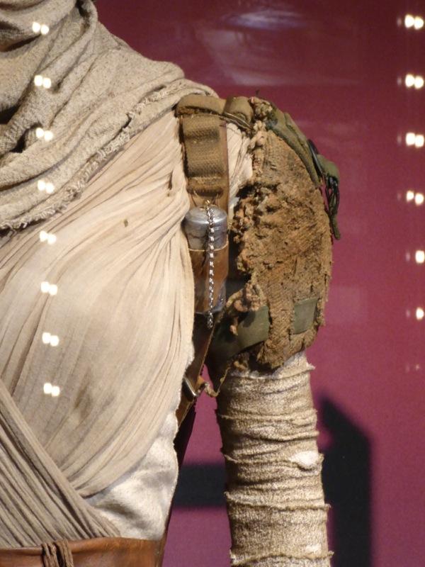 Star Wars Force Awakens Rey shoulder costume detail