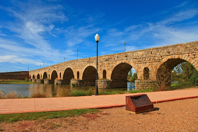 The Merida Roman brigde, near Badajoz