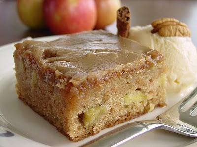 FreshApple Cake w/ Brown Sugar Glaze adaptedfrom Southern Cakes
