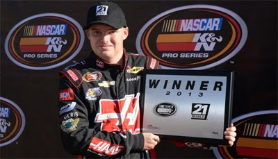 Cole Custer win the pole position in NASCAR K&N Pro Series West qualifying for the Casino Arizona 50.