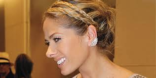 Penteado tiara de tranças
