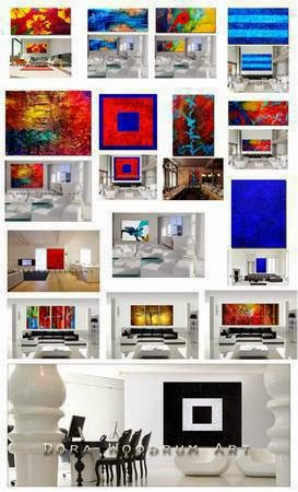 Lots of GORGEOUS abstract paintings for your home or office