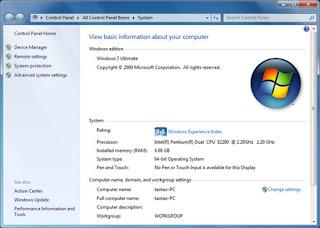 Cara Mengetahui 32 bit atau 64 bit windows