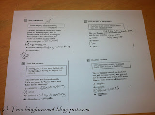 showing evidence on test     5th grade   upper grade blog