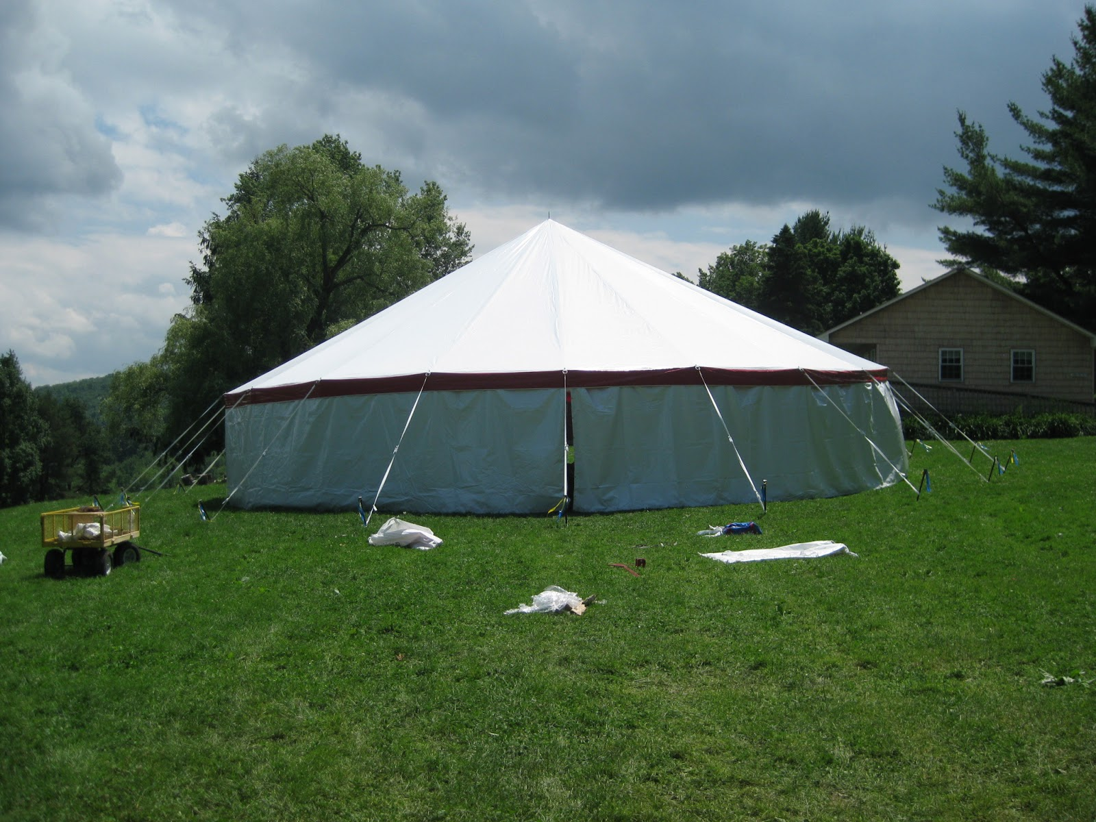 Tents That Look Like Barns : Soccer camp at iroquoina check out the new tent