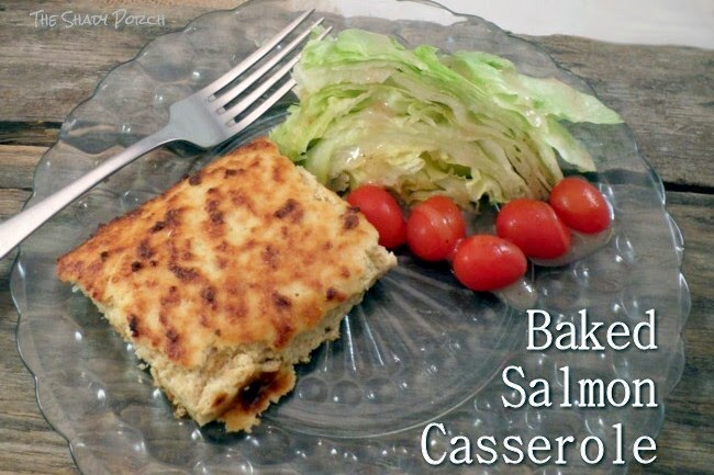 a serving of Baked Salmon Casserole
