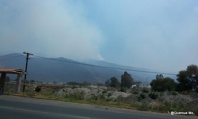 Incendio en la parte alta del Cerro Viejo