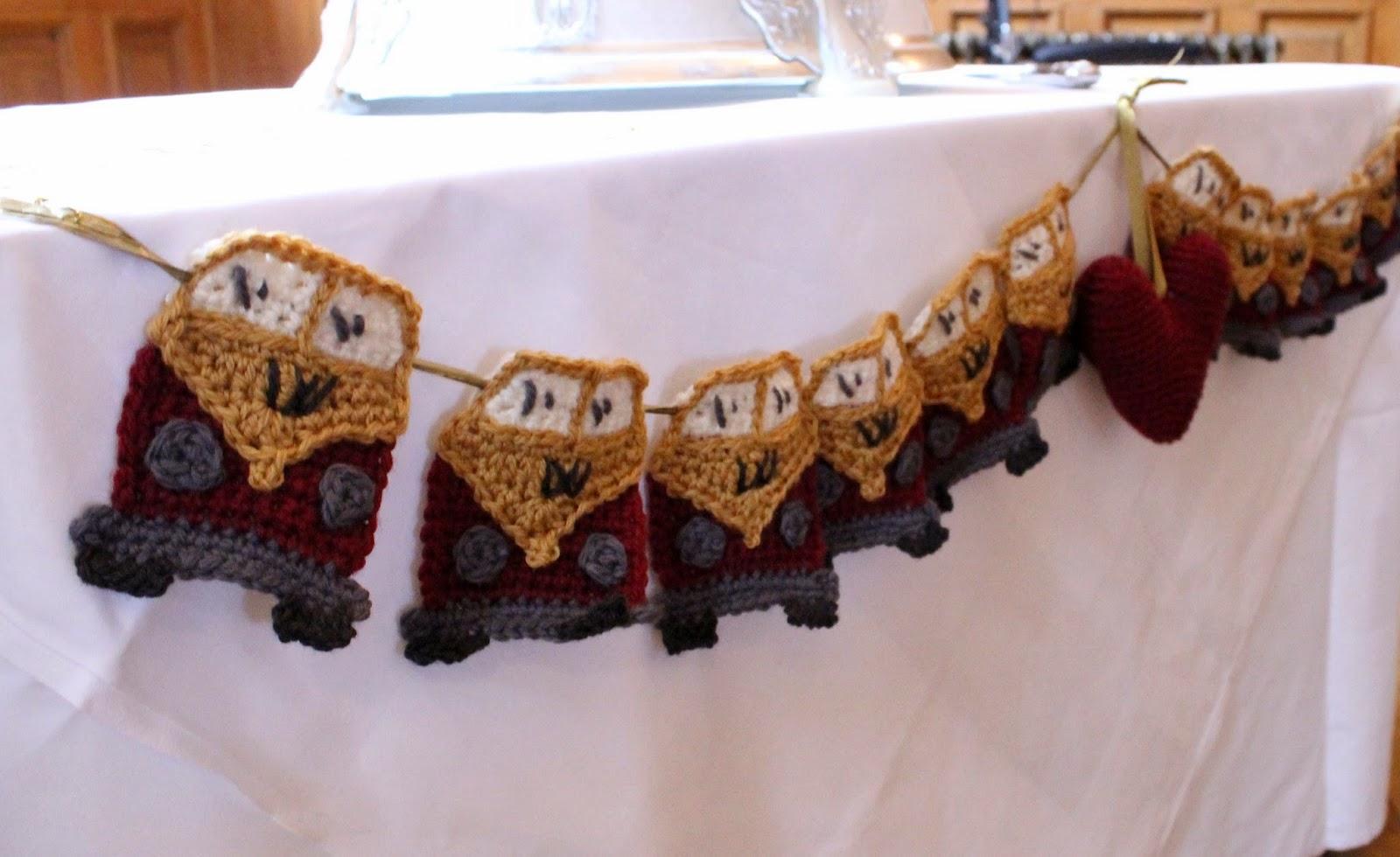 crochet campervan bunting