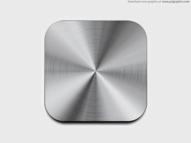 Metal Button Template PSD