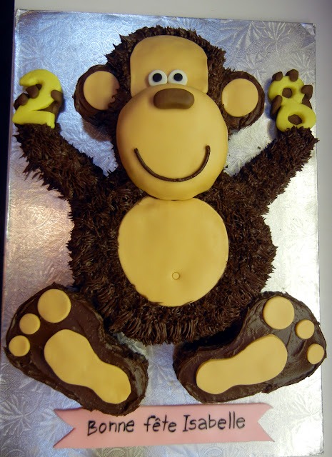 How To Make A Monkey Shaped Birthday Cake