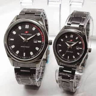 Jam Tangan Couple Swiss Army Full Black