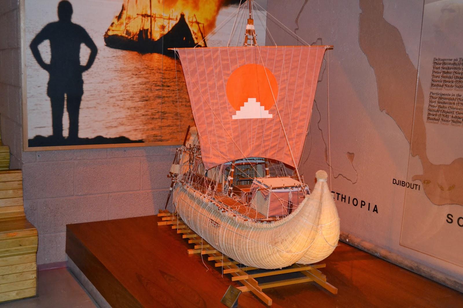 Scaled model of kon tiki