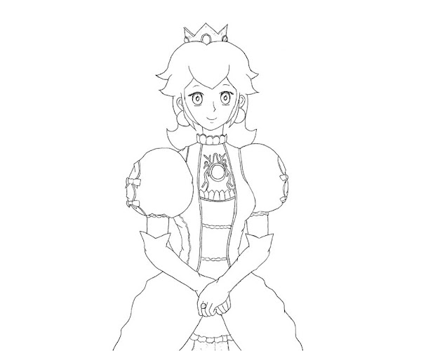 Free Printable Princess Peach Coloring Pages