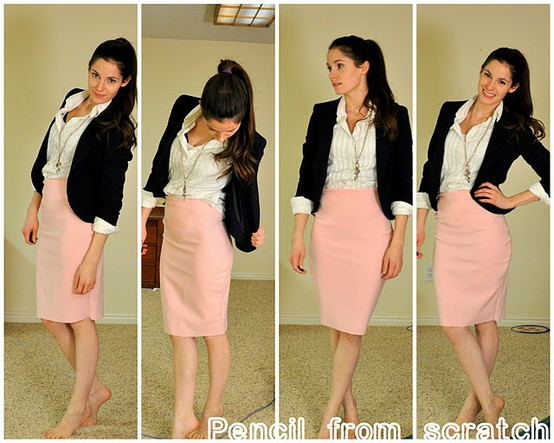 Miracles & Ruffles: DIY PENCIL SKIRT